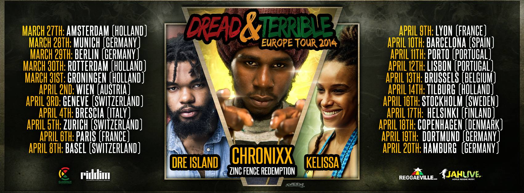CHRONIXX - DREAD u TERRIBLE-EUROPE-TOUR-2014